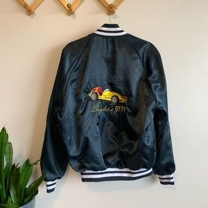 "Vintage ""satin"" bomber jacket size Medium"